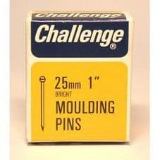 Challenge Moulding Pins (Veneer Pins) - Bright Steel (Box Pack) - 25mm